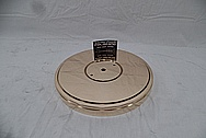 Vintage Copper Turntable / Record Player Piece AFTER Chrome-Like Metal Polishing and Buffing Services - Copper Polishing Services