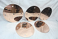 Copper Baffles AFTER Chrome-Like Metal Polishing and Buffing Services / Restoration Services
