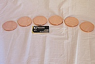 SET # 2 Copper Discs AFTER Custom Metal Polishing and Buffing Services