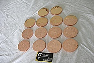 SET # 3 of Copper Discs AFTER Custom Metal Polishing and Buffing Services