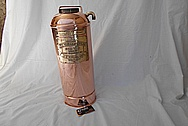 Vintage Copper Fire Extinguisher Tank AFTER Chrome-Like Metal Polishing and Buffing Services - Copper Polishing