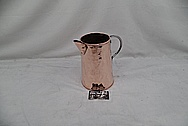 Vintage Copper Pitcher AFTER Chrome-Like Metal Polishing and Buffing Services - Copper Polishing