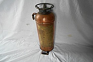 Copper Guardene Fire Extinguisher BEFORE Chrome-Like Metal Polishing and Buffing Services