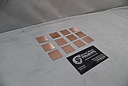 Copper Coupon Pieces BEFORE Chrome-Like Metal Polishing and Buffing Services - Copper Polishing