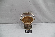Vintage Copper Bowl BEFORE Chrome-Like Metal Polishing and Buffing Services - Copper Polishing