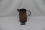 Vintage Copper Pitcher BEFORE Chrome-Like Metal Polishing and Buffing Services - Copper Polishing