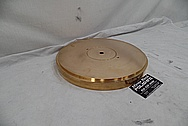 Vintage Copper Turntable BEFORE Chrome-Like Metal Polishing and Buffing Services - Copper Polishing