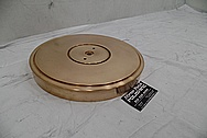 Vintage Copper Turntable BEFORE Chrome-Like Metal Polishing and Buffing Services - Copper Polishing Services