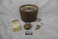 Vintage Navy Ship Copper Lighthouse Assembly BEFORE Chrome-Like Metal Polishing and Buffing Services - Copper Polishing Services