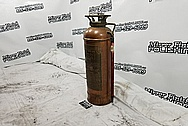 LaFrance New York Fire Equipment Corporation Copper Fire Extinguisher Tank BEFORE Chrome-Like Metal Polishing and Buffing Services - Copper Polishing