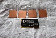 Copper Plate Pieces BEFORE Chrome-Like Metal Polishing and Buffing Services