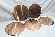 Copper Baffles BEFORE Chrome-Like Metal Polishing and Buffing Services / Restoration Services
