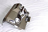 1993 - 1998 Toyota Supra Turbo Heat Shield Cover AFTER Chrome-Like Metal Polishing and Buffing Services / Restoration Services
