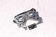 Toyota Supra 2JZ-GTE Steel Cam Gear Back Plate Cover AFTER Chrome-Like Metal Polishing and Buffing Services Plus Clearcoating Service