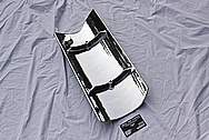 Chevy V8 Engine Valley Cover AFTER Chrome-Like Metal Polishing and Buffing Services