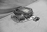 Aluminum, Finned Rear End Differential Cover Piece AFTER Chrome-Like Metal Polishing and Buffing Services - Aluminum Polishing