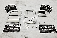 Nintendo Gameboy Aluminum Cover Pieces AFTER Chrome-Like Metal Polishing and Buffing Services - Aluminum Polishing