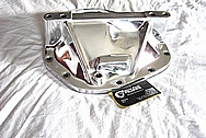 Aluminum Rear End Differential Cover Piece AFTER Chrome-Like Metal Polishing and Buffing Services