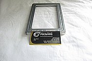 Ford Mustang Aluminum Saleen License Plate Frame / Cover Piece BEFORE Chrome-Like Metal Polishing and Buffing Services