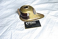 Brass Light Cover Boat Piece BEFORE Chrome-Like Metal Polishing and Buffing Services