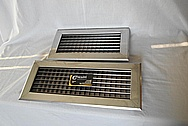 Stainless Steel Vent Covers BEFORE Chrome-Like Metal Polishing and Buffing Services / Restoration Services