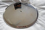 Aluminum Air Cleaner Lid BEFORE Chrome-Like Metal Polishing and Buffing Services / Restoration Service