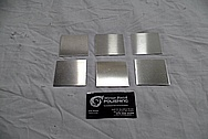Aluminum Cover Plates BEFORE Chrome-Like Metal Polishing and Buffing Services / Restoration Services