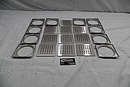 Stainless Steel Drain Cover Pieces BEFORE Chrome-Like Metal Polishing and Buffing Services / Restoration Services