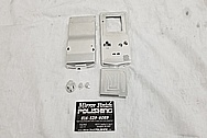 Nintendo Gameboy Aluminum Cover Pieces BEFORE Chrome-Like Metal Polishing and Buffing Services - Aluminum Polishing