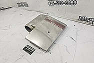 B&M Aluminum Superjection Cover BEFORE Chrome-Like Metal Polishing and Buffing Services - Aluminum Polishing
