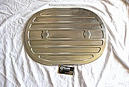 Aluminum Cover Piece BEFORE Chrome-Like Metal Polishing and Buffing Services
