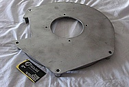 Cast Aluminum Engine / Transmission Cover Piece BEFORE Chrome-Like Metal Polishing and Buffing Services
