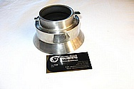 Aluminum Coffee Pot Cover Piece BEFORE Chrome-Like Metal Polishing and Buffing Services / Restoration Services