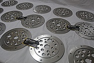 Stainless Steel Manufacture Cover Pieces BEFORE Chrome-Like Metal Polishing and Buffing Services / Restoration Services