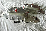Billet Aluminum Boat Chainbox Pieces BEFORE Chrome-Like Metal Polishing and Buffing Services / Restoration Services