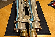 1945 Aluminum Vintage Japanese Binoculars AFTER Chrome-Like Metal Polishing and Buffing Services