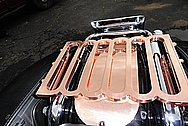2003 Harley Davidson Roadking Motorcycle Custom Brass Rack Pieces AFTER Chrome-Like Metal Polishing and Buffing Services / Restoration Services