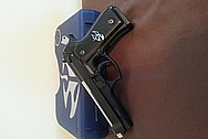92FS Stainless Steel Handgun / Pistol AFTER Chrome-Like Metal Polishing and Buffing Services / Restoration Services