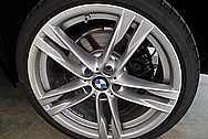 Our Customers Brand New 2015 BMW 650I Aluminum Wheels BEFORE Chrome-Like Metal Polishing and Buffing Services / Restoration Services