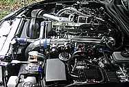 METAL POLISHING - TONYS 1995 TOYOTA SUPRA CHROME POLISHED ENGINE BAY