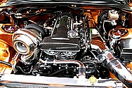 METAL POLISHING - WES'S TOYOTA SUPRA CHROME POLISHED ENGINE BAY