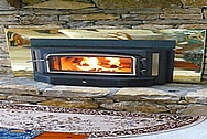 Brass Fireplace Trim AFTER Chrome-Like Metal Polishing and Buffing Services