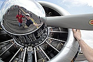 Mooney Aluminum Airplane/Aircraft Spinner AFTER Chrome-Like Metal Polishing and Buffing Services