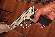 Our Customer's CZ 75 Compact Gun / Pistol AFTER Chrome-Like Metal Polishing and Buffing Services / Restoration Services