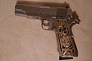 Our Customer's Stainlesss Steel Gun / Pistol AFTER Chrome-Like Metal Polishing and Buffing Services / Restoration Services
