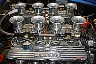 Gordon's 630HP Big Block Engine With Ford Cobra Aluminum Valve Covers AFTER Chrome-Like Metal Polishing and Buffing Services