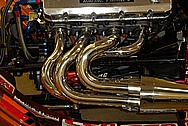 Martin Motorsports Custom Steel Headers AFTER Chrome-Like Metal Polishing and Buffing Services