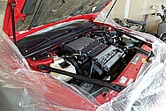 1994 Oldsmobile Cutlass Engine Compartment BEFORE Chrome-Like Metal Polishing and Buffing Services / Restoration Services - Aluminum and Steel Polishing Services