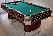 1955 Brunswick Anniversary Circa Aluminum Pool Table Pieces AFTER Chrome - Like Metal Polishing and Buffing Services and Painting Services / Restoration Services