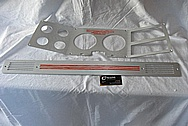 Chevrolet Aluminum Automotive Dash Panel / Instrument Panel Cluster BEFORE Chrome-Like Metal Polishing and Buffing Services